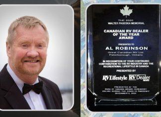 Al Robinson 2020 Canadian RV Dealer of the Year Award