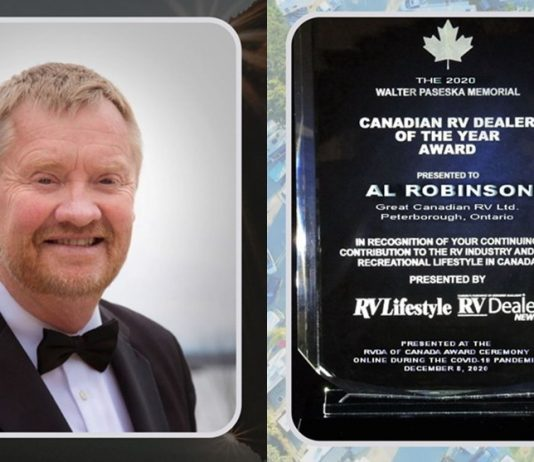 Al Robinson 2020 Canadian RV Dealer of the Year Award